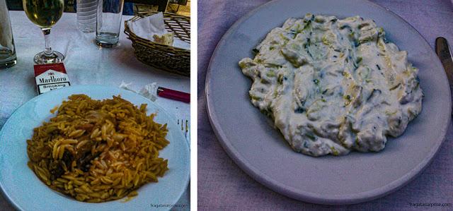 Giouvetsi e Tatziki, pratos típicos gregos