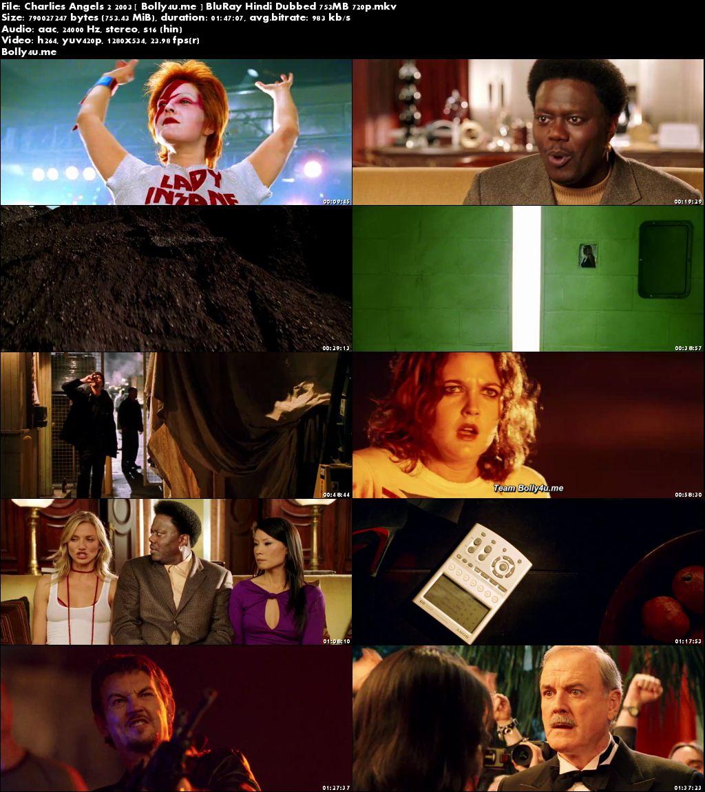Charlies Angels 2 2003 BluRay 750MB Hindi Dubbed 720p Download