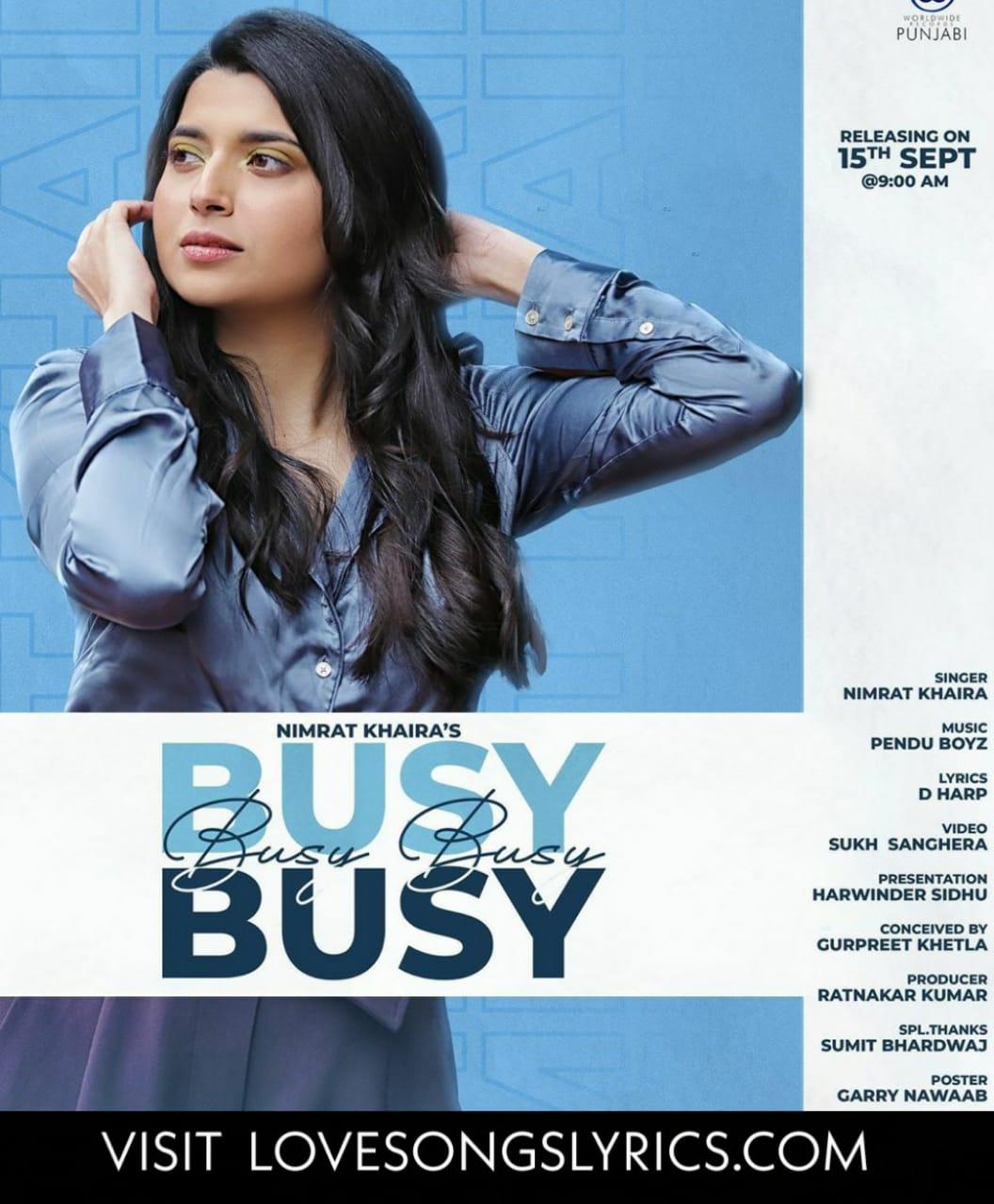 Busy Busy Song Lyrics