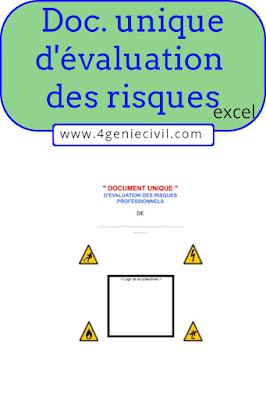 Document unique d'évaluation des risques