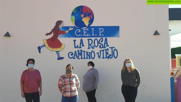 El Paso renueva la imagen de sus centros educativos con murales ilustrados