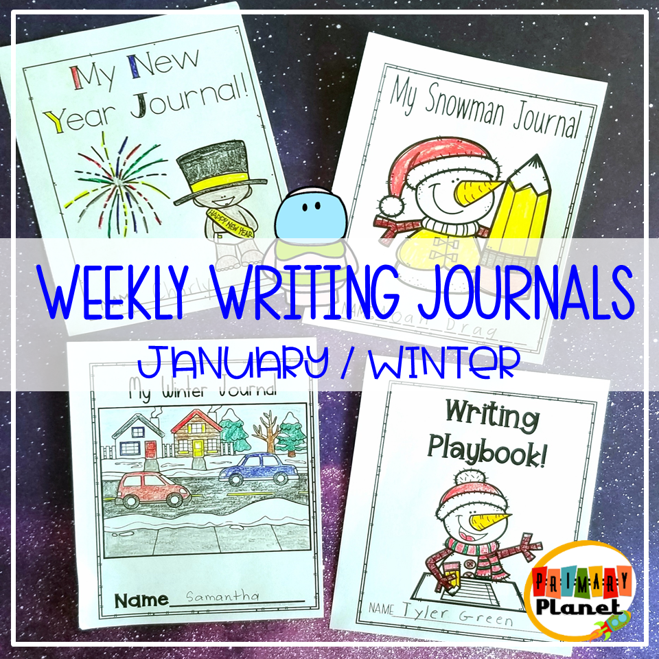 January Weekly Writing Journals Image