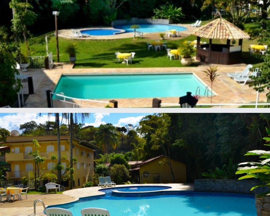 Piscinas no Hotel Santa Amália em Vassouras, no Vale do Café. Em breve o hotel ganhará uma piscina térmica