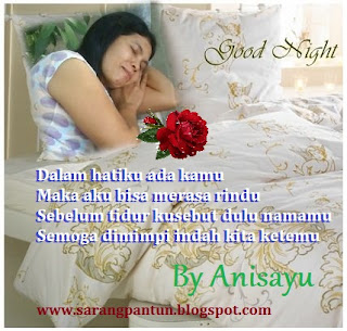 PANTUN CINTA: Pantun Sebelum Tidur