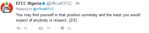 EFCC Replies Reno Omokri, 'Show Us Respect' They Say