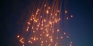 internationally-banned white phosphorus bombs