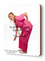 blog picture of nurse grabbing lower back with sciatica
