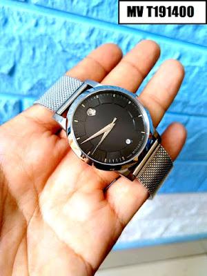 Đồng hồ nam dây inox trắng MV T191400