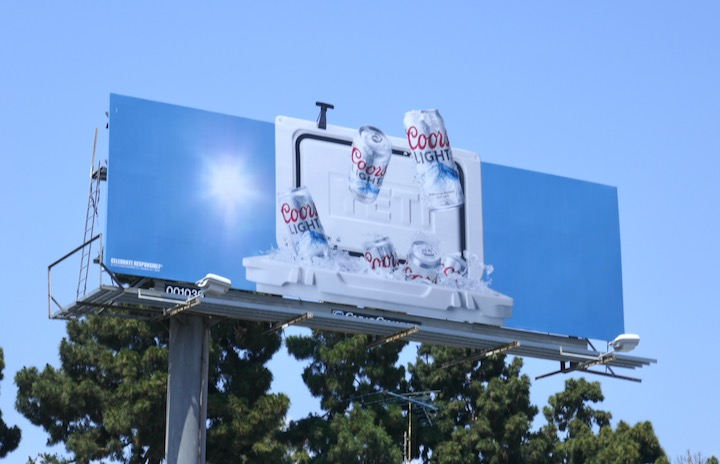 Coors Light ice box extension billboard