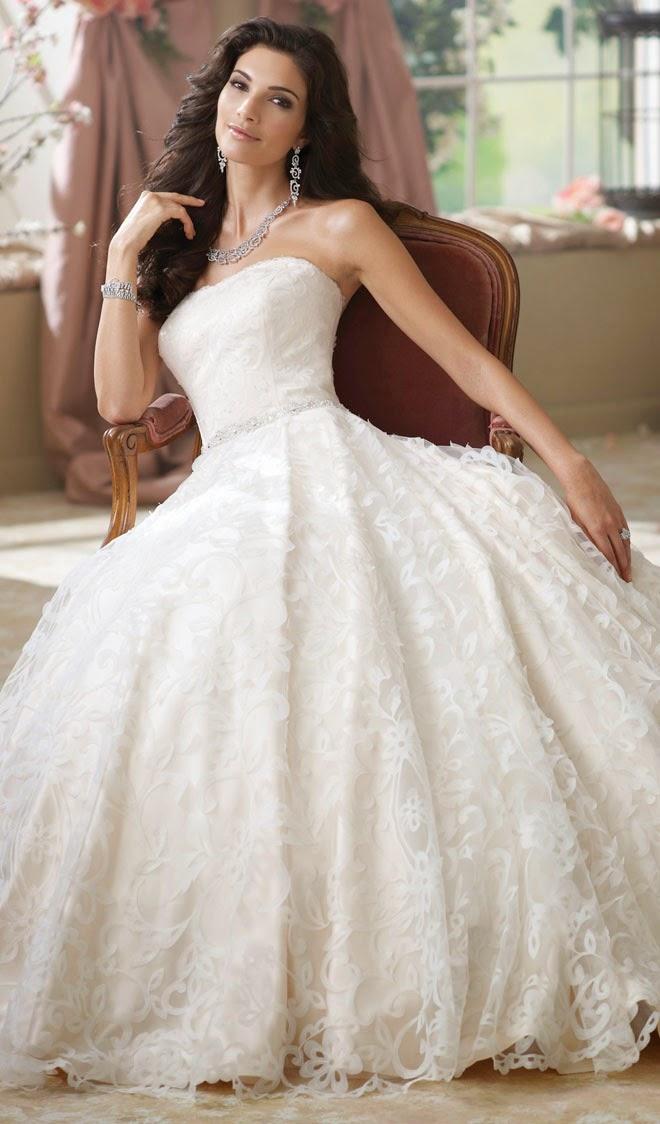 David Tutera for Mon Cheri Fall 2014 Bridal Collection - Belle The ...