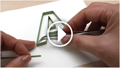 Quiling Letters Tutorial Pattern Video