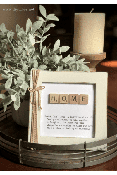 Scrabble tile art - easy DIY craft!