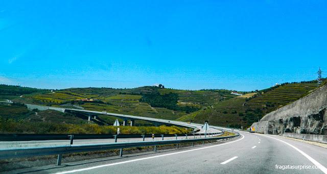 Rodovia A4, entre Amarante e Peso da Régua, Portugal