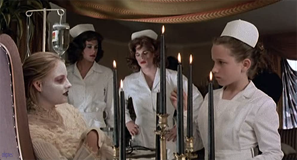 Rob Lowe and Paul McCrane femulating as nurses in the 1984 film The Hotel New Hampshire