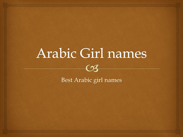 Arabic names for girls