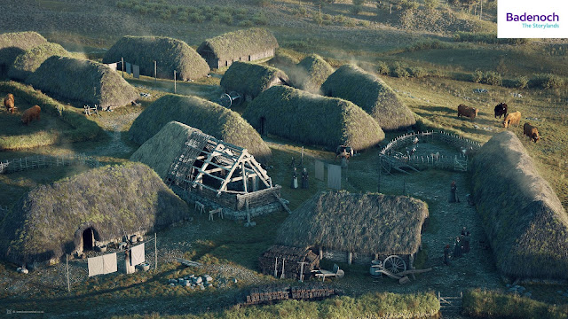 A digital reconstruction of Raitts Township, Badenoch in the early 1700s by Bob Marshall