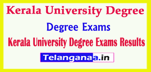 Kerala University Degree Exams Results 2018