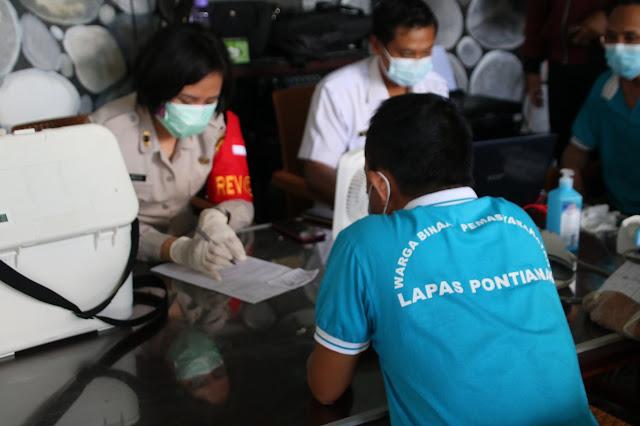 1073 Warga Binaan di Lapas Kelas II A Pontianak, 250 akan disuntik Vaksin