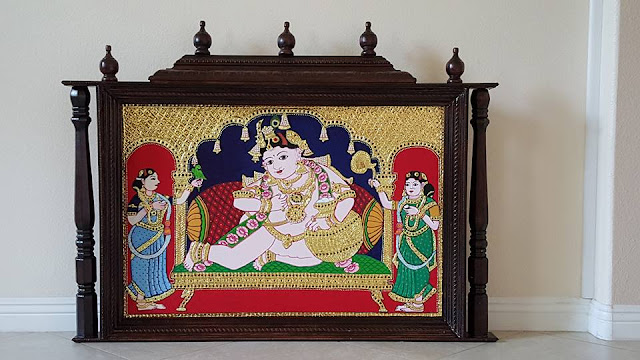 DIY home made Tanjore painting frame mandap