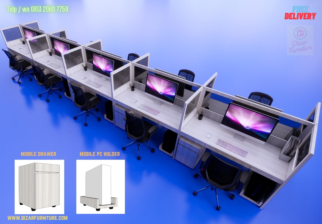 produsen Meja Kubikel bekasi,meja skat 10 orang