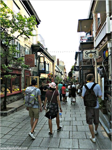 Calle Petit-Champlain en el Viejo Quebec