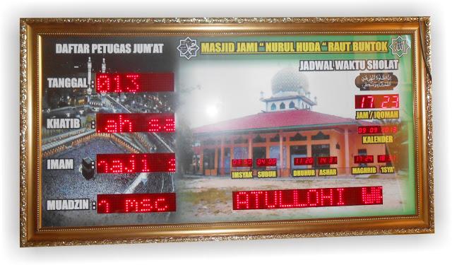jam dinding digital untuk masjid (118) membuat jam digital masjid (46) jadwal shalat digital (31) waktu sholat digital (21) jual jadwal sholat digital bagus untuk masjid (21) jam waktu shalat (19) pusat jam digital com (17) jam digital sholat 5 waktu (16) jam digital waktu solat (15) jam dinding masjid (15)