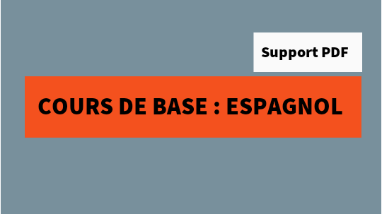Cours  BTS : cours de base de l'espagnol pour les débutants pdf