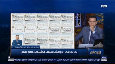 خبير معلوماتى, تغريدة ضد مصر, حساب على تويتر,