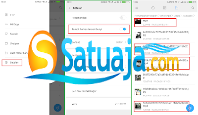 simpan status video whatsapp