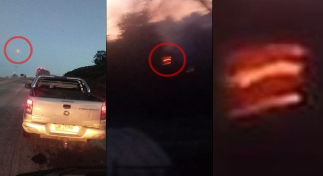 Flaming object drops from sky and crashes in Dalcahue, Chile  Hiuhiph