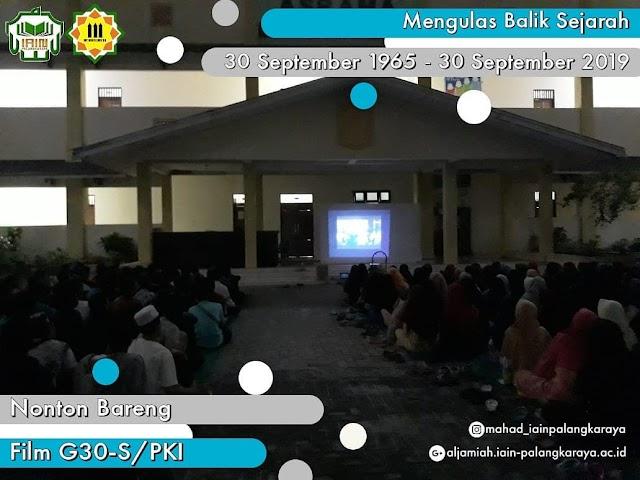 Mahasantri Nobar Film G30-S/PKI Sebagi Bentuk Ulas Balik Sejarah