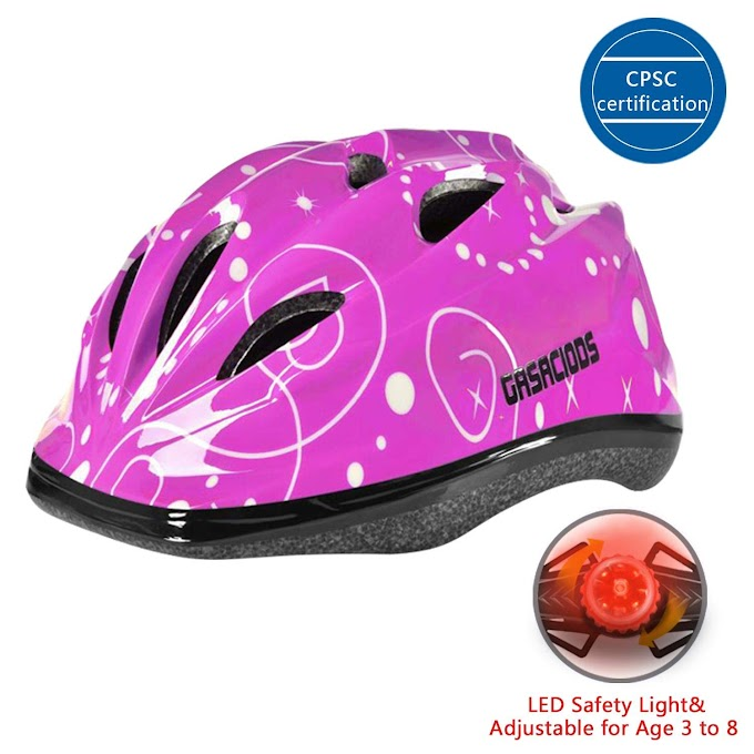 AMAZON - 50% Off Kids Child Bike &Skateboard Helmet With LED Warning Light