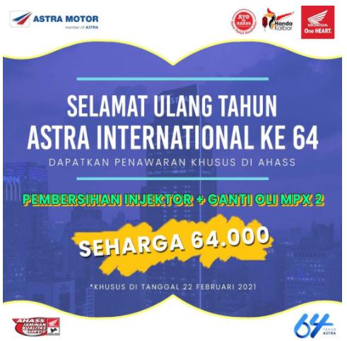 Memeriahkan Acara HUT ke-64 Astra International
