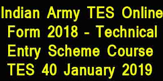 Indian Army TES Online Form 2018