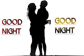Good night love couple photos