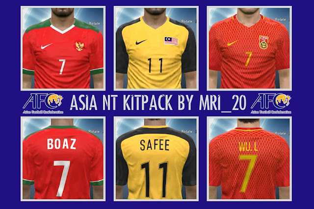 PES 16/17 Asian NT Kitpack by MRI_20Mods