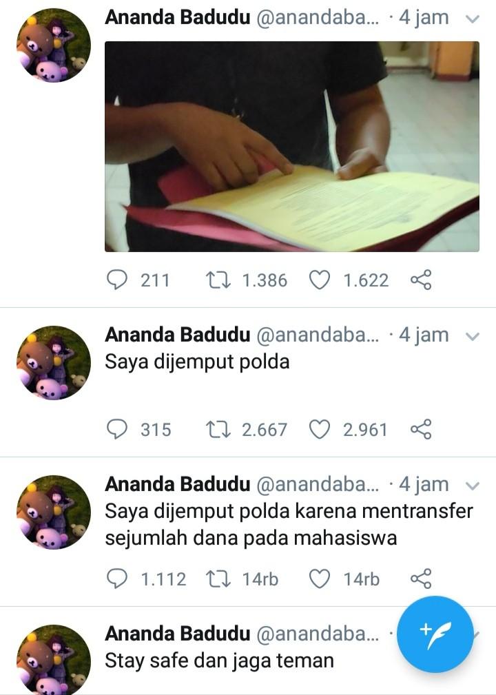 Ditangkap Polda, Musisi dan Jurnalis Ananda Badudu: Stay Safe dan Jaga Teman!