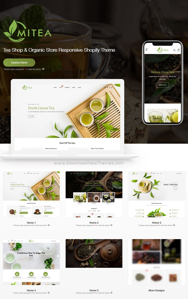 Tea Shop & Organic Store Responsive Shopify Theme