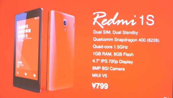 Harga dan Spesifikasi Ponsel Xiaomi Redmi 1s Terbaru