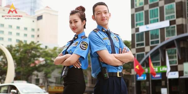Đồng phục bảo vệ khách sạn màu xanh