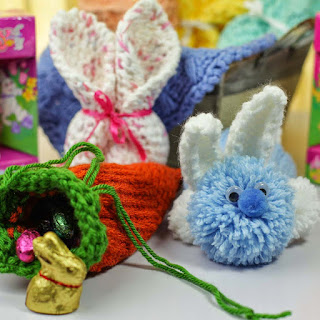 Loom knit candy holders Easter Carrot and Bunny Free Pattern