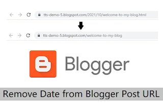 Remove Date from Blogger blog Post URL