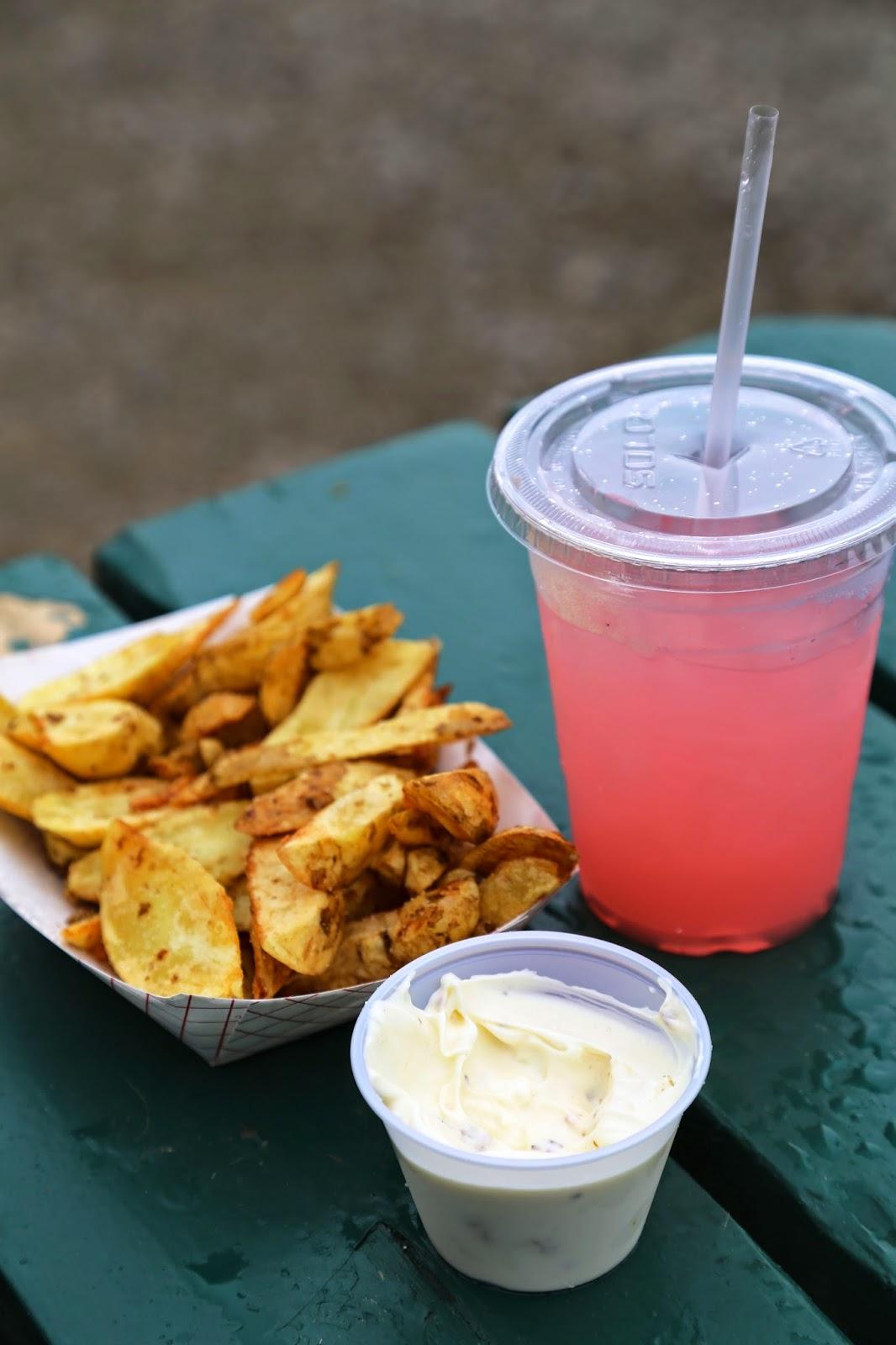 Rhubarb lemonade and peanut potato fries, Alaska State Fair