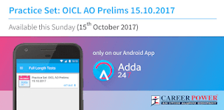 Sunday Challenge Is Live On Adda247 App: Practice Set OICL AO Prelims 2017