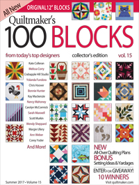quiltmaker's 100 blocks vol 15 magazine cover