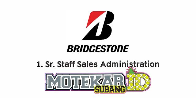 Info Lowongan Kerja PT Bridgestone Tire Indonesia Maret 2021 - Motekar Subang