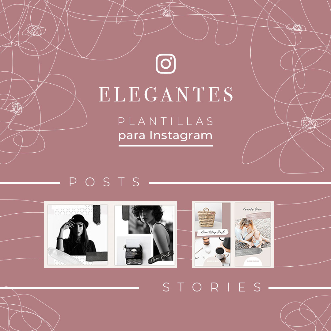 descarga plantillas instagram stories y posts bonitas y elegantes para editar con canva