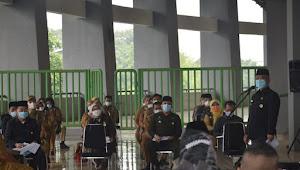 Rahmat Effendi Pimpin Rapat Terkait Evaluasi Penyebaran Kasus Covid-19 di Stadion Chandrabaga Bekasi