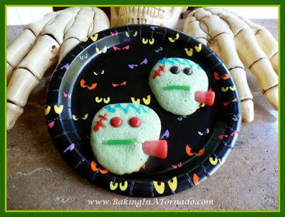Mint Frankenstein Cookies | Recipe developed by www.BakingInATornado.com