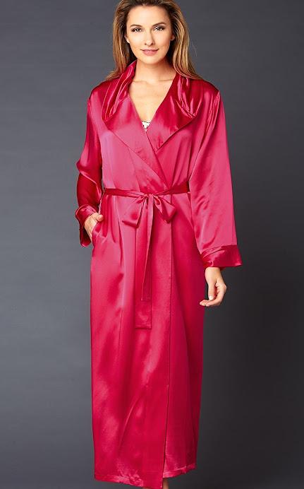 Women's Red Silk Robes
